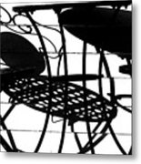 Patio Shadows 1 Metal Print