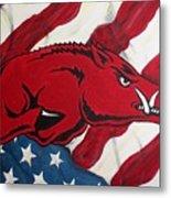 Patriot Hog Metal Print by Nathan Grisham