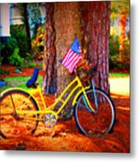 Patriotic Ride Metal Print