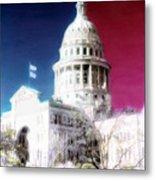Patriotic Texas Capitol Metal Print