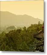 Pavilion Rooftops And Lush Foliage As Seen From The Summer Palace Metal Print