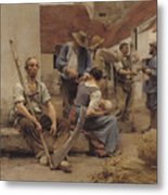 Paying The Harvesters Metal Print