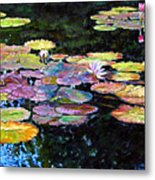 Peace Among The Lilies Metal Print
