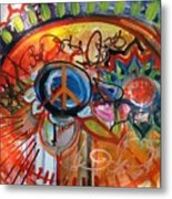 Peace Flower Metal Print