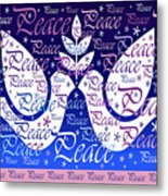 Peace Holiday Card Metal Print