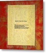 Peace Prayers - Shinto Prayer For Peace Metal Print