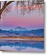 Peaceful Early Morning First Light Longs Peak View Metal Print