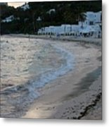 Peaceful Evening On Dawn Beach Metal Print