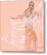 Peachy Dancer Metal Print