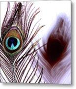 Peacock 8 - Doppleganger Metal Print
