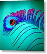 Peacock Feathers 5 Metal Print