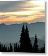 Peaks And Valley Metal Print