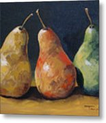 Pear Trio  Metal Print