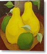Pears And Apples  2006 Metal Print