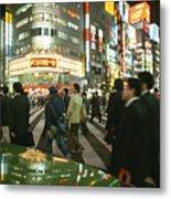 Pedestrians Cross A Crowded Tokyo Metal Print by Justin Guariglia
