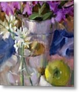 Peggy's Orchids Metal Print