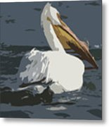 Pelican Cut Out Metal Print