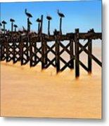 Pelican Pier Near Pass Christian - Mississippi Metal Print