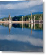 Pend Oreille River Pilings Metal Print