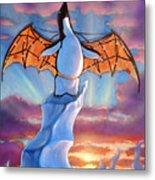 Penguin Wings Metal Print by Michael Orwick