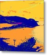 Peninsula Orange Metal Print