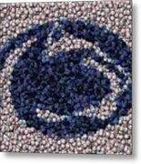 Penn State Bottle Cap Mosaic Metal Print by Paul Van Scott