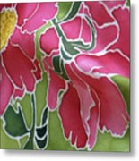 Peonies In The Garden Metal Print by Joanna White