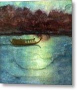 Perfume River By Moonlight Metal Print