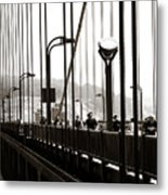 Perspective On The Golden Gate Bridge Metal Print