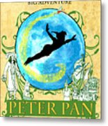 Peter Pan Tribute Metal Print