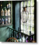 Pharmacist - In A Pharmacists Window Metal Print
