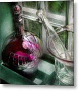 Pharmacy - The Apothecary Is Open  Metal Print