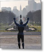 Philadelphia Champion - Rocky Metal Print