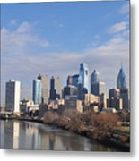 Philadelphia From The South Street Bridge Metal Print by Bill Cannon