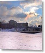 Philadelphia Museum Of Art At Winter Sunrise Metal Print