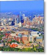 Philadelphia Skyline 3400 Civic Center Blvd Metal Print