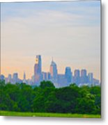 Philadelphia Skyline From West Lawn Of Fairmount Park Metal Print by Bill Cannon