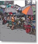 Philippines 708 Market Metal Print