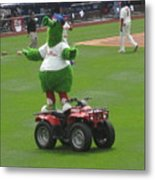 Phillie Phanatic Metal Print