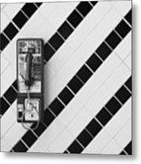 Phone And Lines Metal Print by Dan Holm