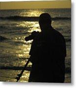 Photographer And Atlantic Ocean Sunrise Metal Print