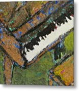 Piano Close Up 1 Metal Print