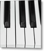 Piano Octave  Bw Metal Print