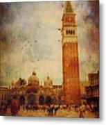 Piazza San Marco - Venice Metal Print