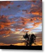 Picacho Peak Sunset II Metal Print