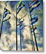 Pier Flags Metal Print