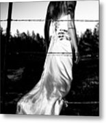 Pierced Dress Metal Print