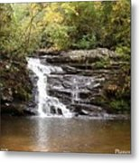 Pigpen Falls Oconee County Sc Metal Print by Lane Owen