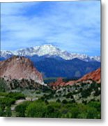 Pikes Peak And Garden Of The Gods 1 Metal Print