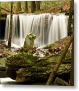 Pillar And Waterfall Metal Print